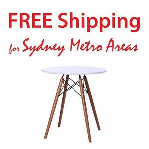 Clearance SALE - Eames Style Eiffel Wood Leg Table (dia 70cm) Zetland Inner Sydney Preview