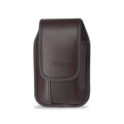 Brown Leather Case Vertical with pinch clip fits Cingular Flip 2