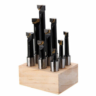1-12mm 12 Shank Boring Bar Set Premium Carbide Tipped Bars For Mill Lathe 9pcs