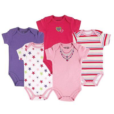 Baby Girls Necklace 5 Pack Hanging Bodysuit Vests - Luvable Friends