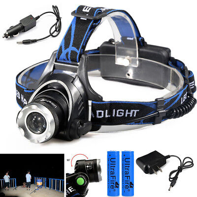 Ultrafire 15000LM T6 Rechargeable 18650 Hunting Led Headlamp Headlight+Charger