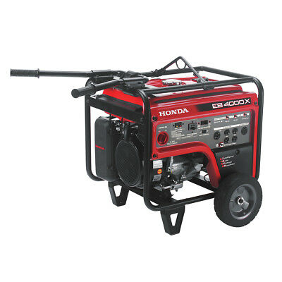 Honda 4,000 Watt Hush GFCI Portable Gas Powered Backup Home Generator - EB4000x