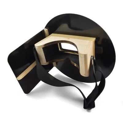 Wendys Pancake Welding Hood Helmet W Strap - Right Handed - Black