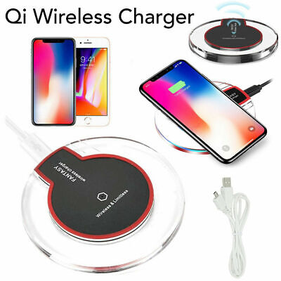 Fast Qi Wireless Charger Charging Pad For Samsung iPhone 11 XR S20 S10 Plus UK