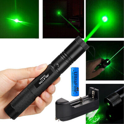 50miles 532nm 301 Green Laser Pointer Lazer Pen Visible Beam Light18650charger