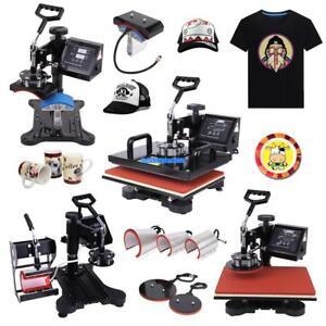 8 In 1 T Shirt Mug Plate Sublimation Heat Press Transfer Machine DIY Printer