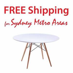 SALE - Eames Style Eiffel Wood Leg Table (dia 120cm) Zetland Inner Sydney Preview