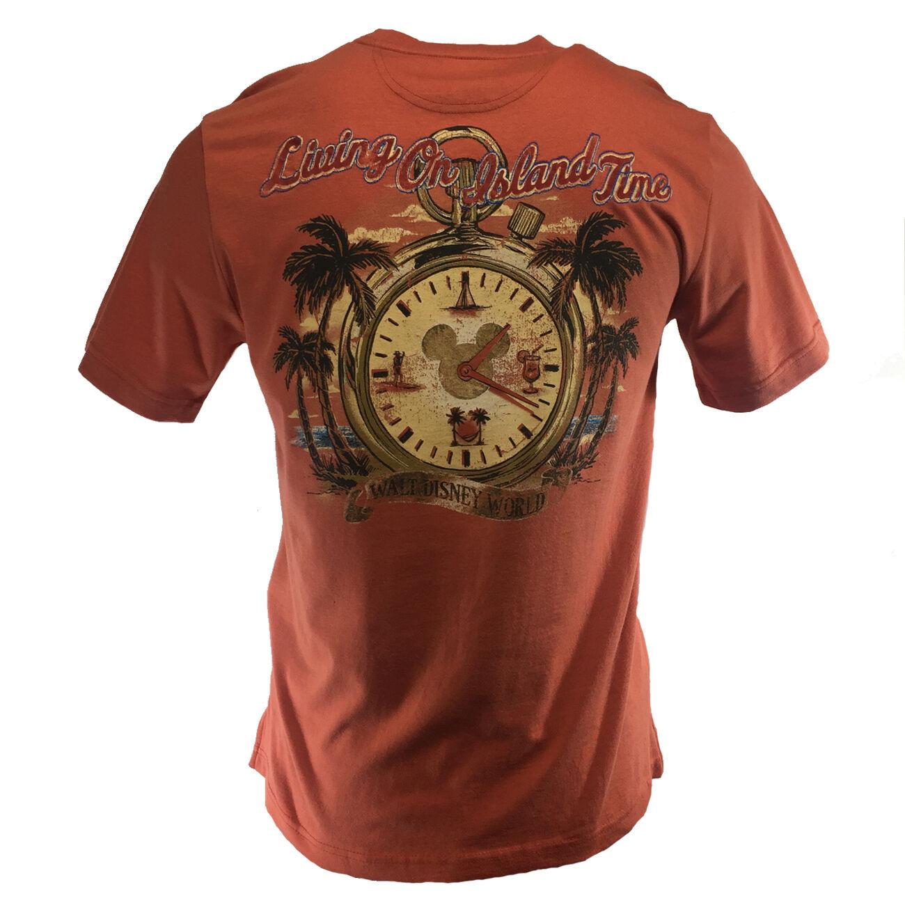 Men's Disney World T-Shirt-Living On Island Time-Mickey Fami