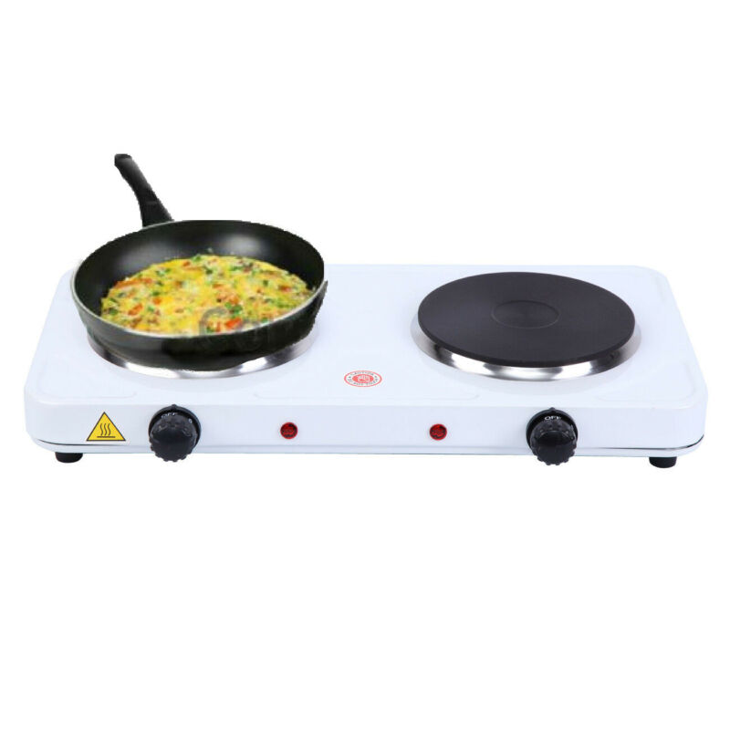 Dual Electric Hotplate Portable Hot Plate Burner 2000W Hob C