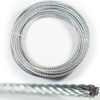 20m – 4mm Wire Cuerda Atadura Cable – Cincado Acero Stranded-metal Hoist Línea -  - ebay.es