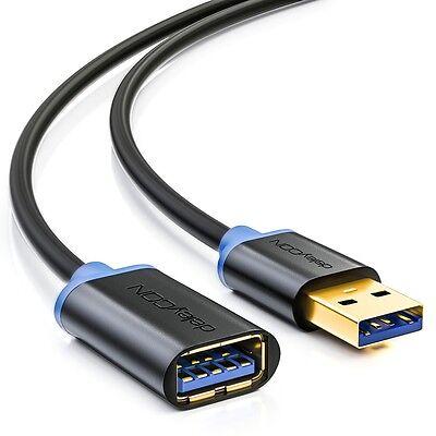 deleyCON 3m USB 3.0 Verlängerungskabel - USB A-Stecker zu USB A-Buchse