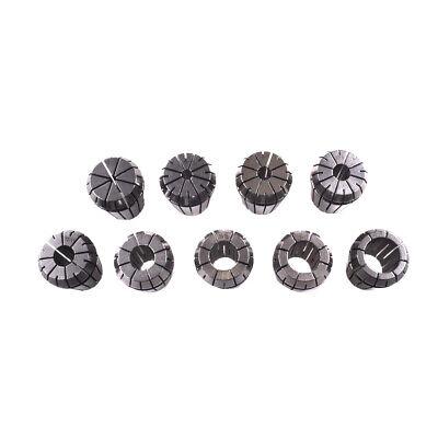 9x Er32 Metric 2-20mm Holder Spring Collet Set Fit Cnc Milling Lathe