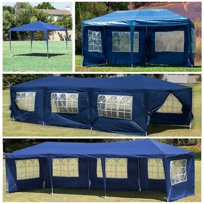 - 10' 20' 30' Outdoor Party Tent Patio Gazebo Canopy Wedding with Side Wall (Blue)