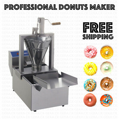 Professional Small Business Compact Donut Fryer Maker Machine 110 Pch Tank