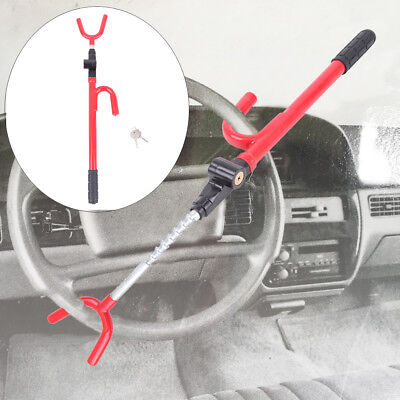 Auto Steering Wheel Lock - Steering Wheel Lock The Club Car Anti Theft Truck SUV Auto Van Universal RED