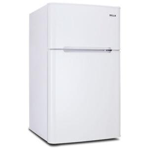 3.2 cu ft Mini Refrigerator and Freezer Small Compact Dorm Office Fridge White