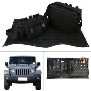 Tailgate Cover Storage Organizer Bag Cargo Detachable for Jeep Wrangler JK 07~15