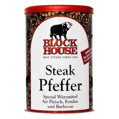 1 Dose Block House - Steak Pfeffer - 200g im Set Würzen hochwertig Restaurant