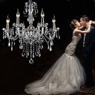 6 Light Ceiling Light - Modern Crystal Chandelier 6Ceiling Light Lamp Pendant Decoration Fixture Lights