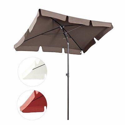 200 × 125 cm Sonnenschirm Strandschirm Garten Schirm Balkonschirm Grillschirm