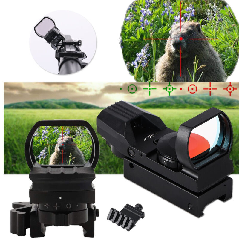 Red Dot Sight Reflex Holographic Scope Tactical Rifle Mount