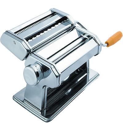 الة صنع المعكرونة جديد Stainless Steel Fresh Pasta Maker Roller Machine for Spaghetti Noodle Fettuccine