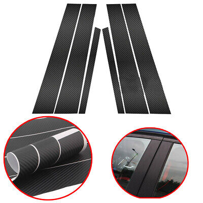 BMW 3-SERIE F30 M3 F80 UNIQUE REAL 3D GLOSSY CARBON FIBER B-PILLAR COVER FOR 12