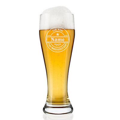 Weißbierglas (Bohemia) ganz persönlich mit Gratis Gravur des gewünschten Namens