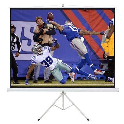 "100""D Tripod Portable Projector Projection 16:9 Screen 87x49 Fold-able Stand"