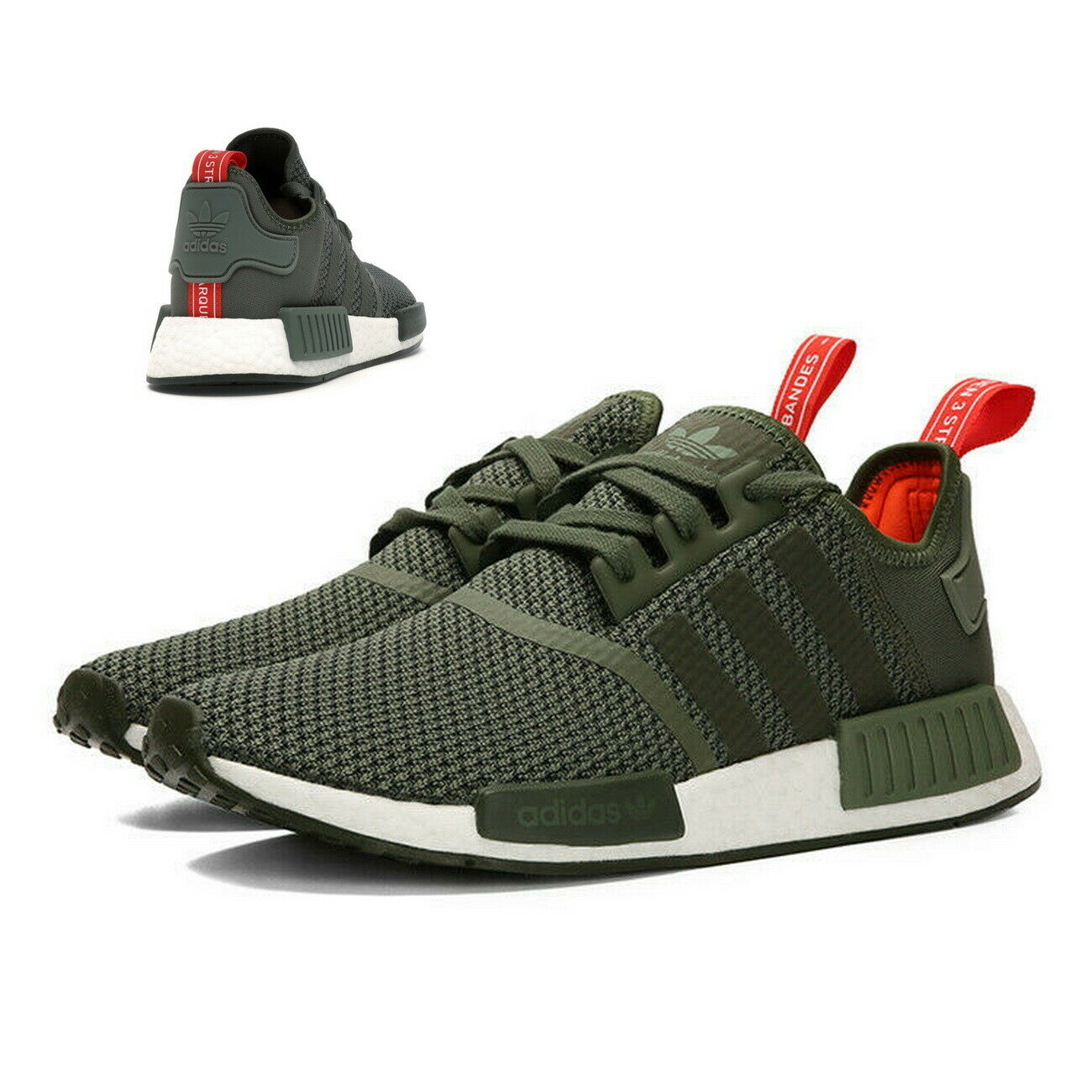 Adidas NMD R1 Originals Sneaker Turnschuhe B37620 olive grün