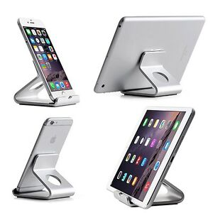 Universal Aluminum Phone Tablet Mount Holder Stand For iPad Air 2 iPhone Samsung