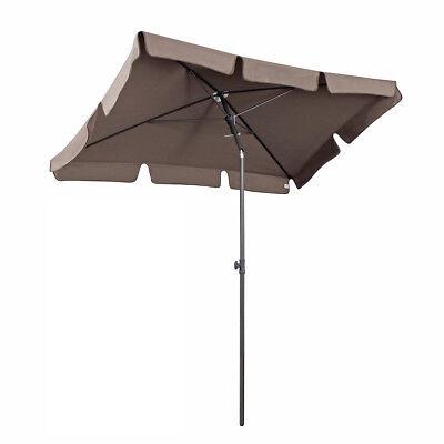 200 x 125 cm Sonnenschirm Gartenschirm Balkonschirm Schirm Sonnenschutz UV 50