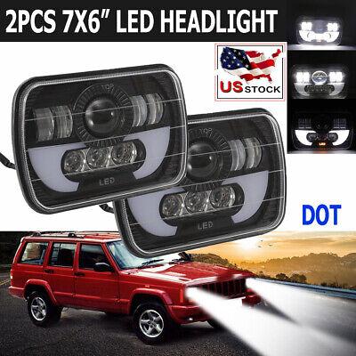 2X 7x6'' Inch 120W CREE LED Headlight Sealed Beam For GMC Savana 1500 2500 3500