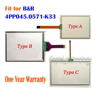 Touch Screen Glass for B&R 4PP045.0571-K33 4PP045-0571-K33 One Year Warranty New