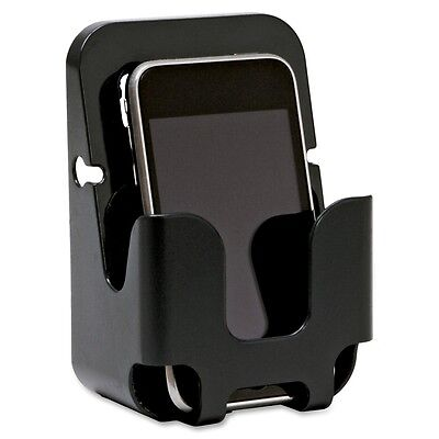 Lorell Cubicle Wall Recycled Cell Phone Holder - Plastic - 1 Each Each - Black