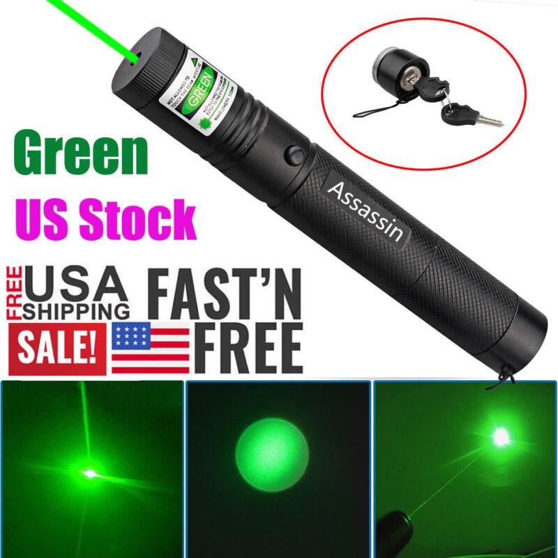 900 Miles 532nm Green Laser Pointer Pen Visible Beam 18650 Lazer Focus/Zoom New