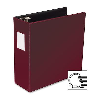 Business Source D-ring Binder Wlabel Holder Hvy-dty 4 Burgundy 33118