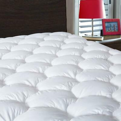 Cooling Mattress Pad Cover Breathable Soft Fluffy Pillowtop Cottontop Waterproof