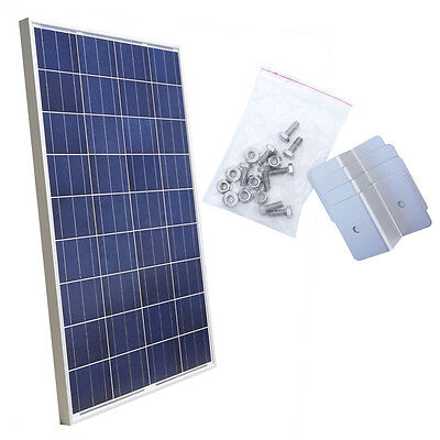 100Watt 18V Poly Solar Panel  with Mounting Kit for Build 12V Accommodations Solar Way