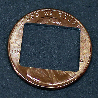 Lucky penny with Wyoming cut out