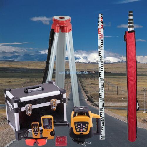 Automatisch rote Strahl Rotations-Laser +1.65M Aluminium-Stativ + 5M Mitarbeiter