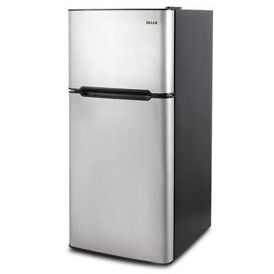 4.5 cu. ft. Mini Fridge Tight Refrigerator Freezer Dorm Studio Stainless Steel