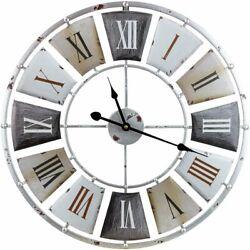 Sorbus Wall Clock, Centurion Roman Numeral Hands, Vintage Industrial Rustic...