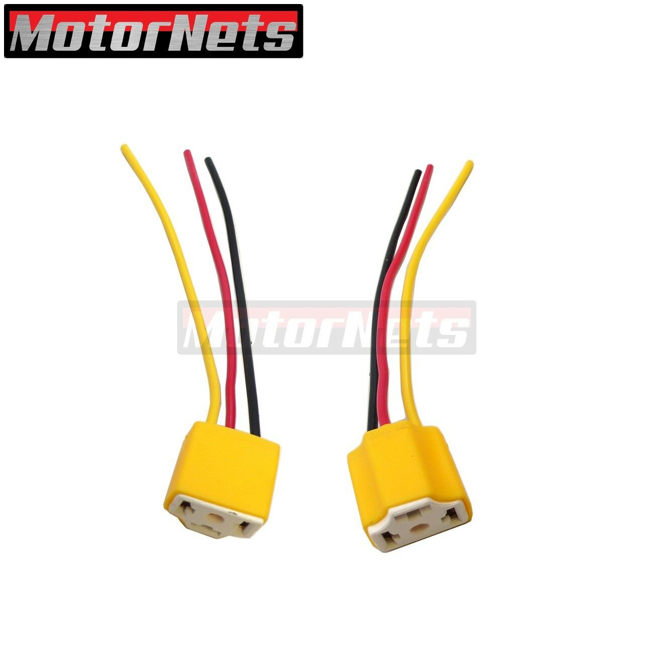Gm 3 Prong Headlight Wiring Electrical Diagrams Three Diagram 2x H4 9003 Bulb Plug Lamp Socket Connector Wire Harness