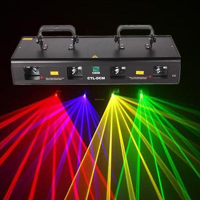 460mW 4 Lens Red Green Purple Yellow DJ Party Stage Show Laser Light
