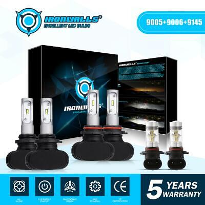 9005 9006 9145 LED Headlight Bulbs For Chevy 03-2007 Silverado 02-2005 Avalanche comprar usado  Enviando para Brazil