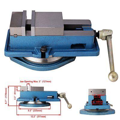 4 Milling Machine Lockdown Vise -swiveling Base High Clamping Power Metal Jaws