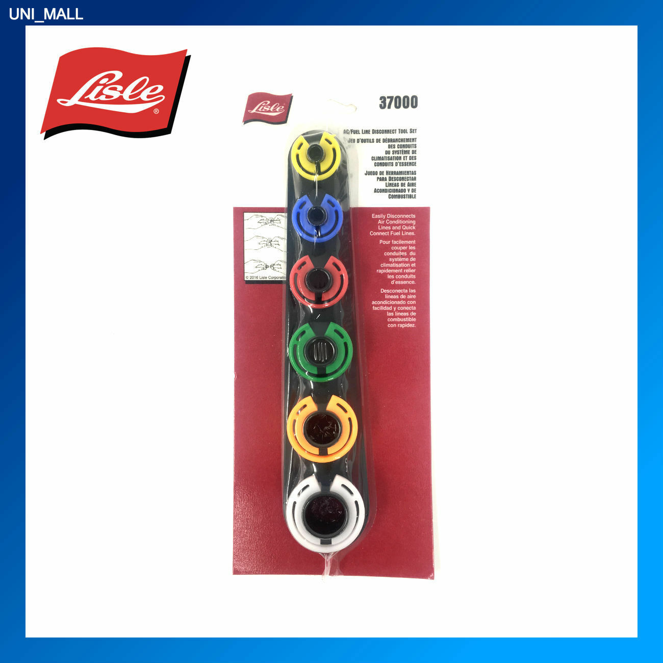 Lisle Tools New 37000 Air Conditioning/Fuel Line Disconnect Tool Set Made in USA