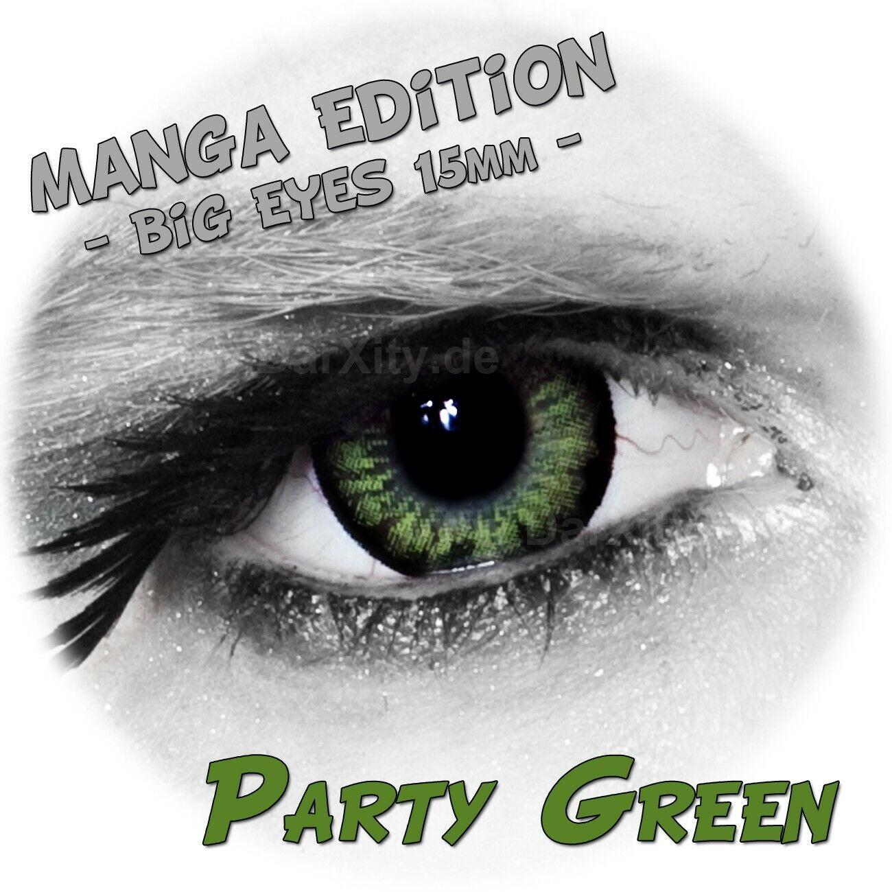 grüne Manga Linsen farbige Kontaktlinsen ohne Sehstärke Big Eyes für große Augen