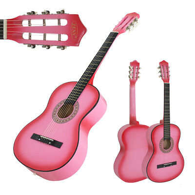 Pink Acoustic Guitar Best 2016 Design W/ Guitar Case, Strap, Tuner